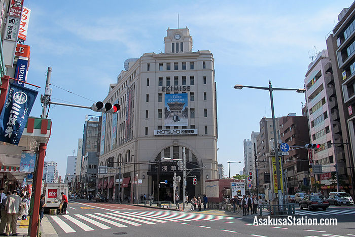 Tobu Asakusa Station is the only station in Asakusa which is above ground