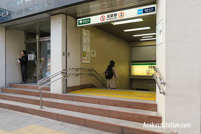The A5 entrance is the closest to Tobu Asakusa Station