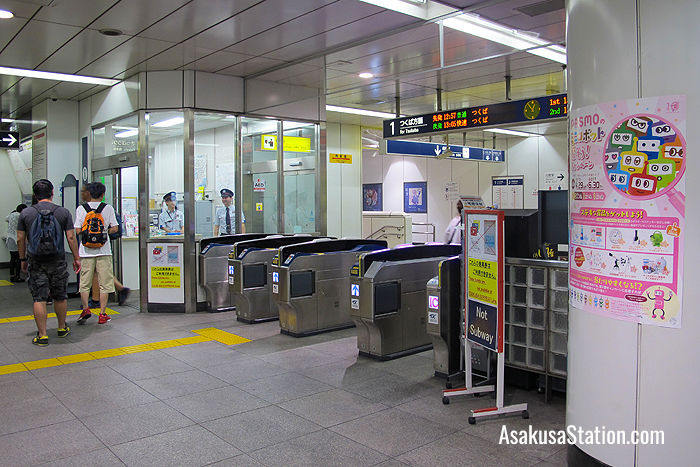 There ticket gates and information office