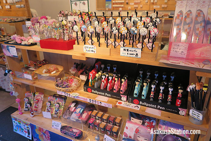 Kanzashi hair pins and other colorful souvenirs