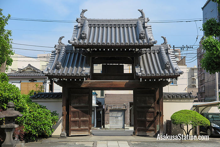 A view of the Sanmon gate from inside the temple