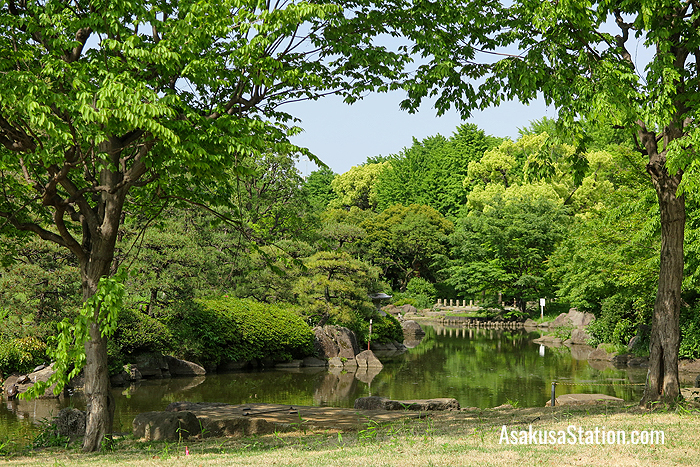 The eastern side of Sumida Park