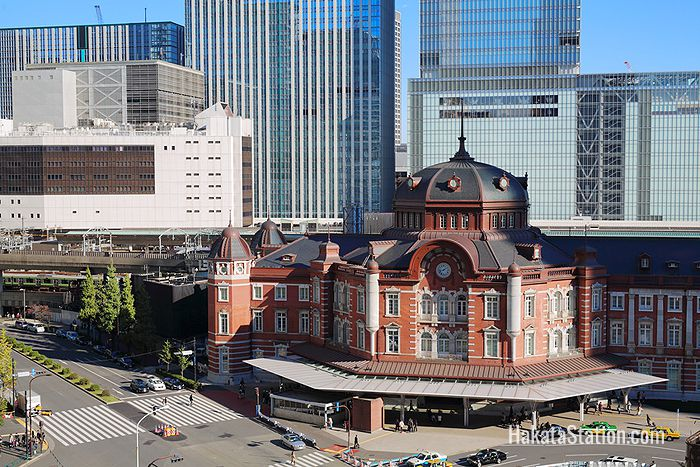 Iconic Tokyo Station building in the capital's Marunouchi district