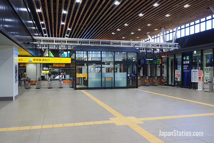 Shinkansen gates and JR Local line transfer gates