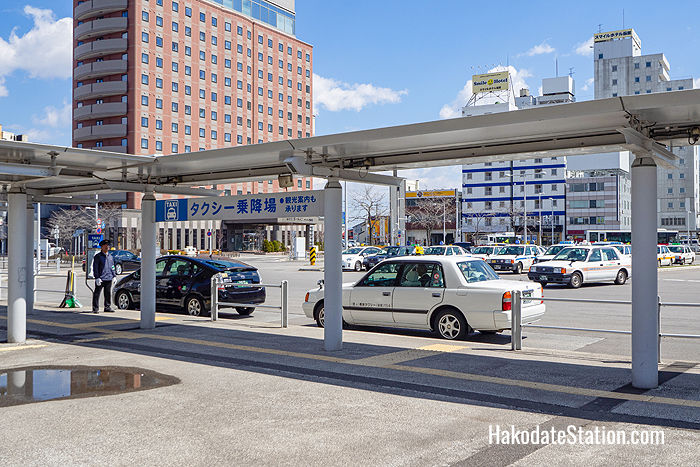 Taxi stand in front of Hakodate Station