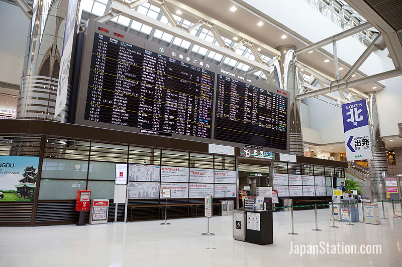 Narita International Airport handles 50 percent of all international flights to Japan
