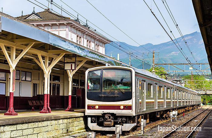 Local train at Nikko railway station