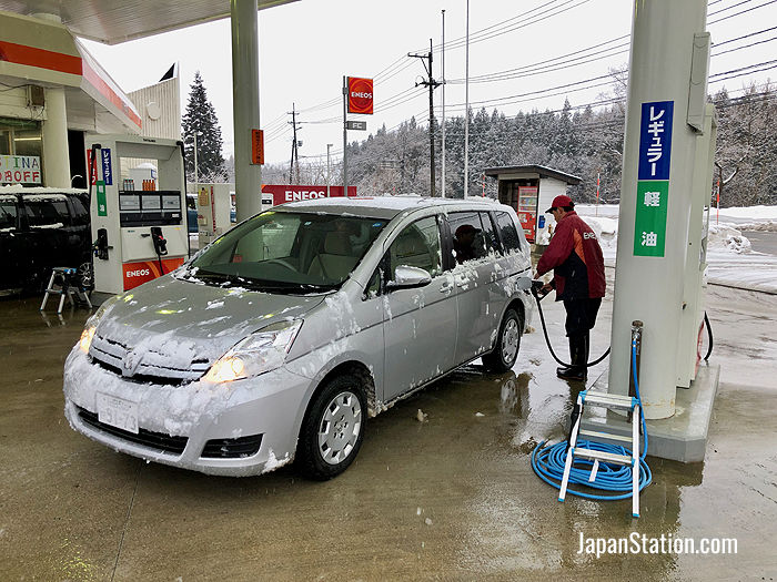 Most gas stations in Japan offer full service