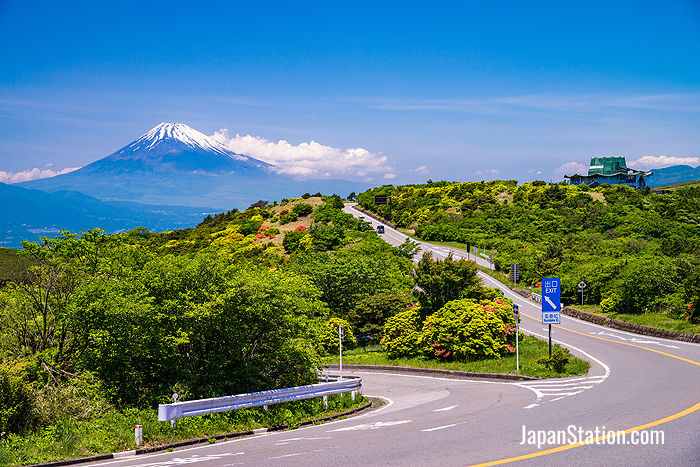 The Izu Skyline road runs at high elevation south of Mt. Fuji