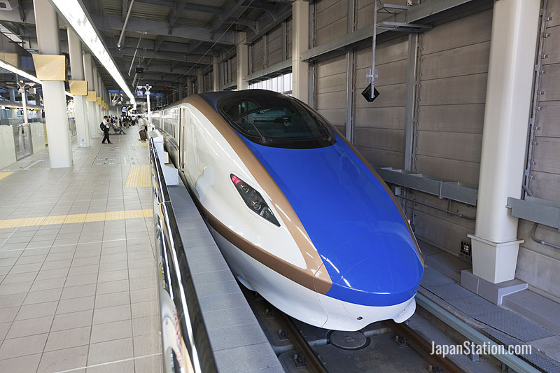 JR West W7 series Shinkansen train at Kanazawa Station