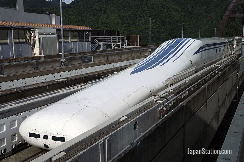 Linear motor Maglev L-0 high speed train on Yamanashi test line in Japan