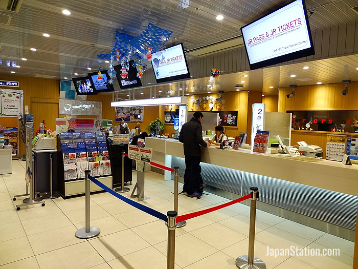 The JR East Travel Service Center at Shinjuku Station in Tokyo is one place where you can exchange vouchers for the Japan Rail Pass