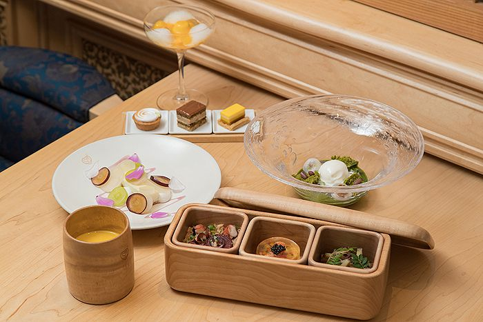 The bento lunch box and sweets are all created by award winning chef Yoshihiro Narisawa