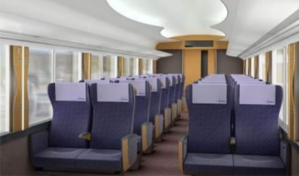 All seats will have their own electrical power outlets and Wi-Fi will be available throughout the train