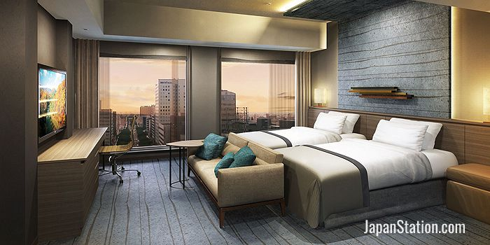 A Superior Room with twin beds