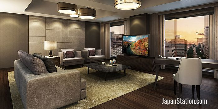 A suite living room