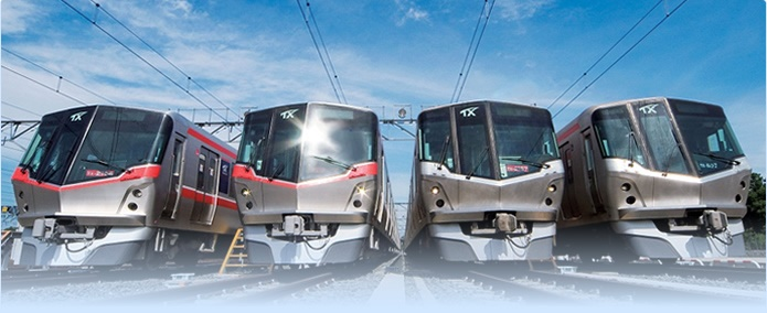 The Tsukuba Express or TX runs at a top speed of 130 km per hour