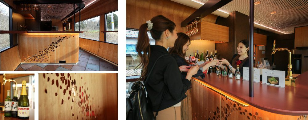 Soft drinks, beer, wine and regional sake are available from the bar