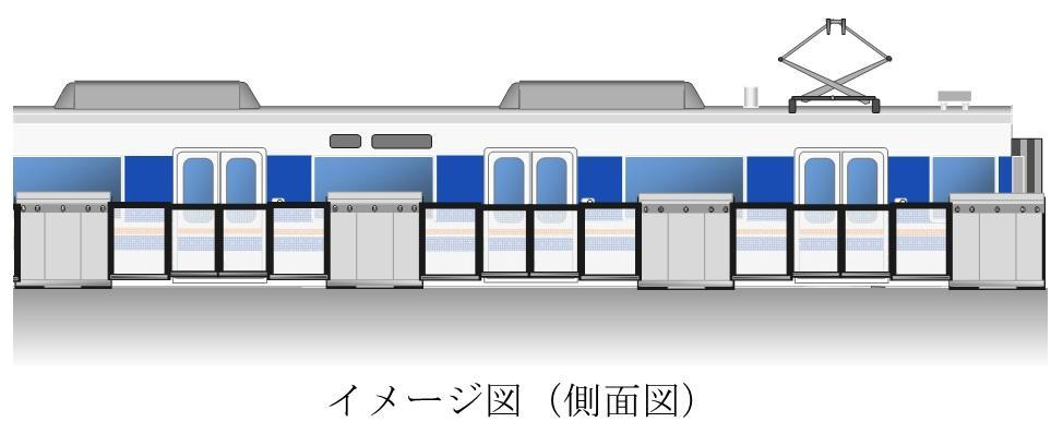The platform screen doors that will be installed at JR Sojiji Station