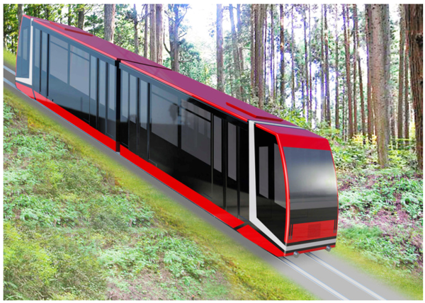 The new design for the Koyasan Cable Car