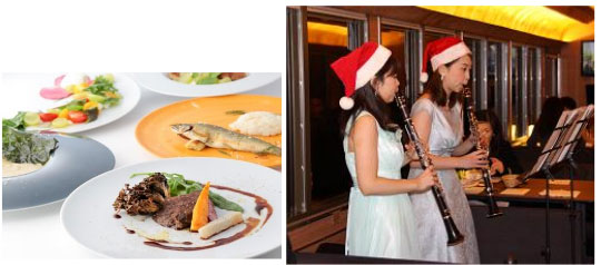 Music and a gourmet meal on the 52 Seats of Happiness Christmas Train