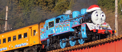 Oigawa Railway's Thomas the Tank Engine Christmas Steam Train