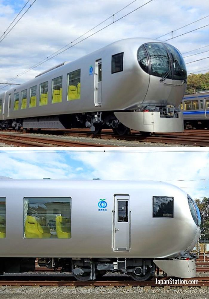 The new train has a distinctly gentle rounded appearance