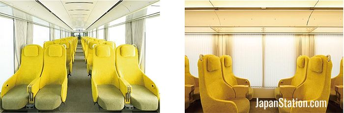 Interior seating can be turned around for group passengers