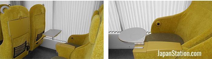 Tables can be found in armrests as well as on seat backs