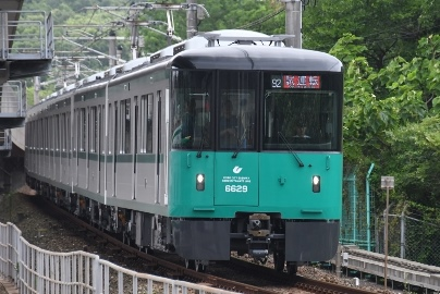 The new #6000 series Kobe subway train