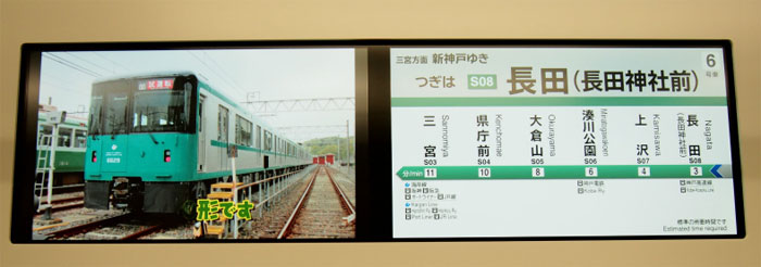 Multilingual video monitors on the new train