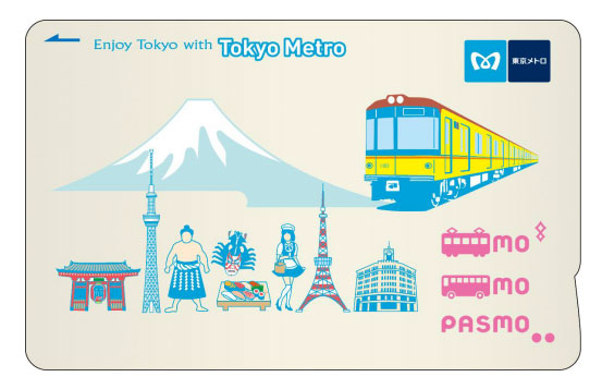 New Tokyo Metro PASMO card design exclusively for tourists