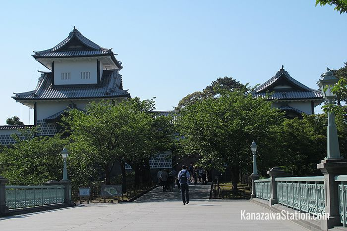 The Ishikawa-mon Gate dates from 1788, and is one of the few structures that survived the fire of 1881