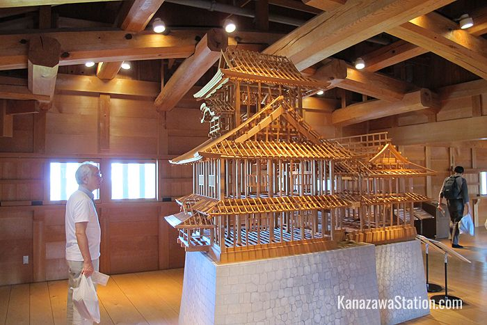 A scale model of the original structure. Models like this were used by carpenters to plan the reconstruction process