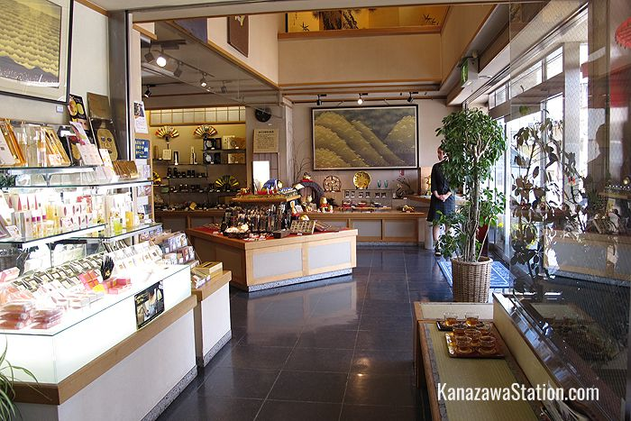 Inside the main store's gold leaf craft shop