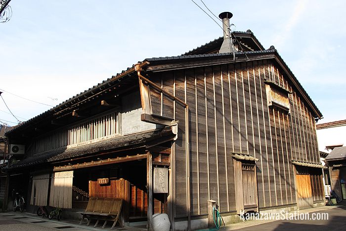 A traditional miso paste shop in the Utatsuyama district