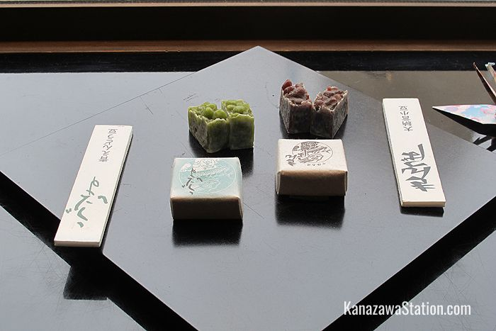 Kintsuba sweets made from adzuki beans