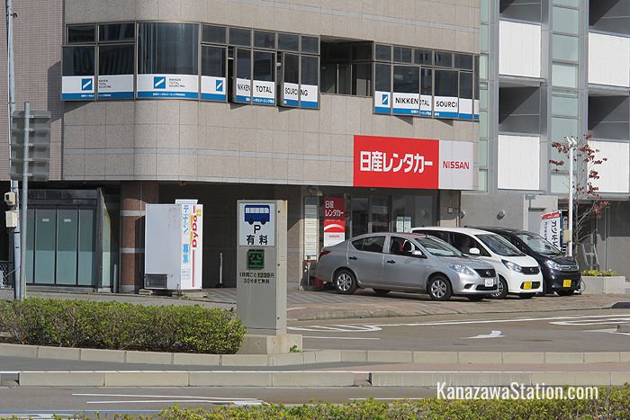This Nissan office is across the road from the station's West Gate taxi rank