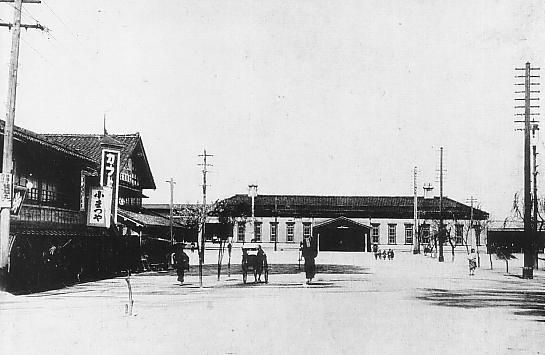 An early photograph of Kanazawa Station
