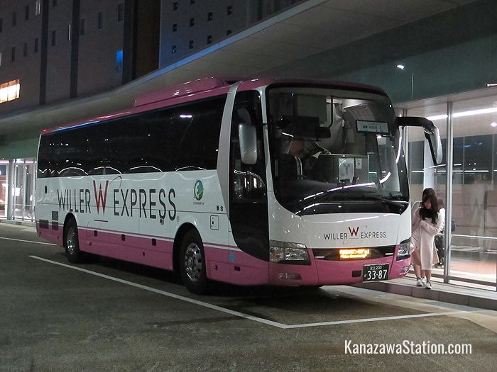 A Willer Express Bus at Kanazawa Station
