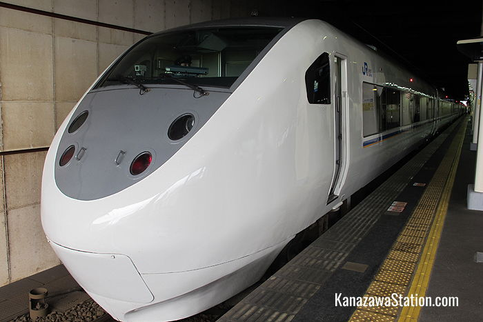 The Limited Express Shirasagi at Kanazawa Station