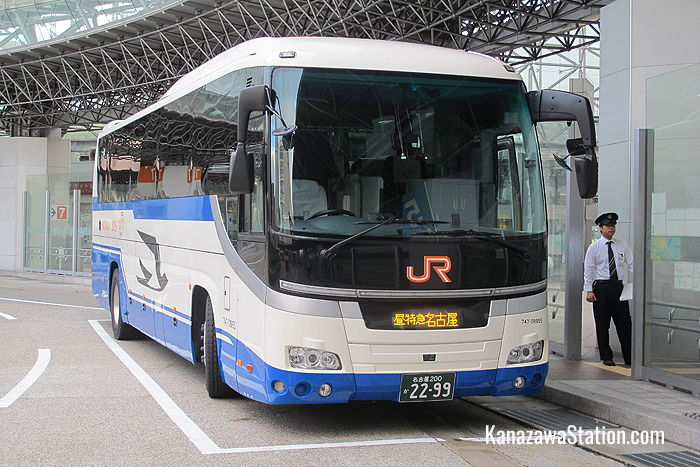 A JR Highway Express Bus at Kanazawa Station