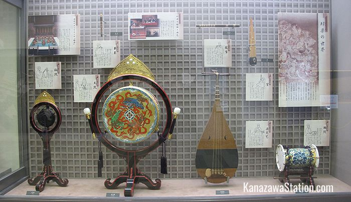 A display of traditional instruments