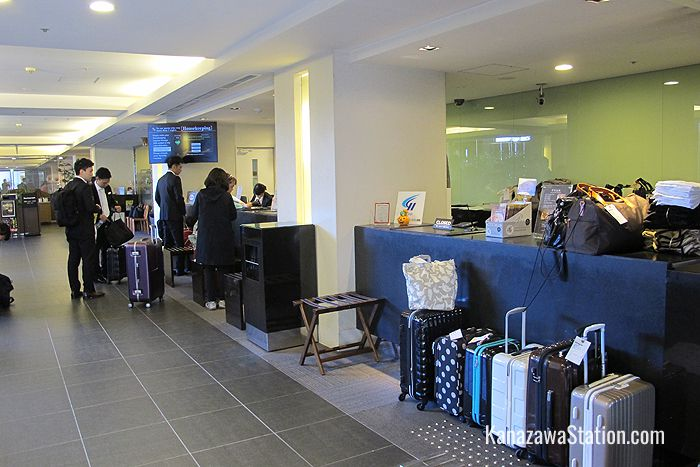 Staff at the front desk can hold your luggage for you before you check in or after you check out