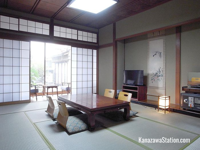 Guest room interior at Ryokan Yamamuro
