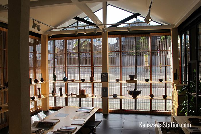 The Ohi Gallery was designed by Kengo Kuma