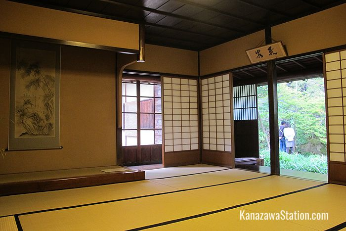Japanese rooms are measured by the number of tatami mats and this room is quite large with 13.5 mats