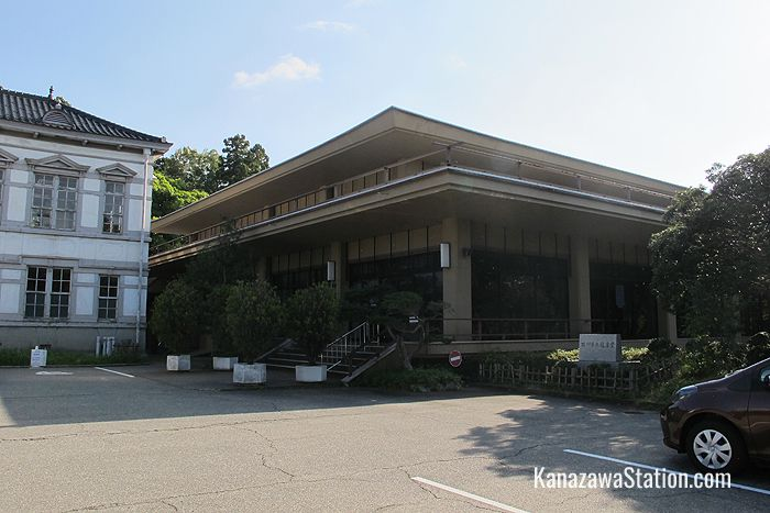 The entrance to Ishikawa Prefectural Noh Theatre