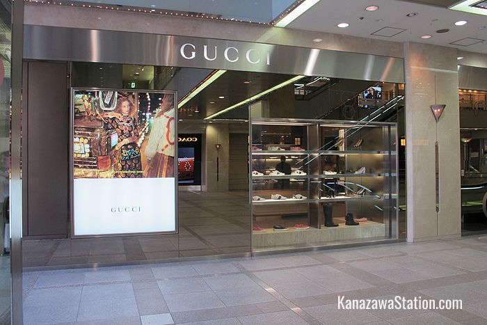 Gucci on the 1st floor is the renowned Italian brand of men's and ladies luxury leather goods
