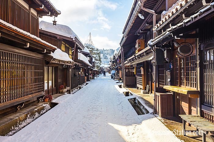 Takayama Old Town in the winter